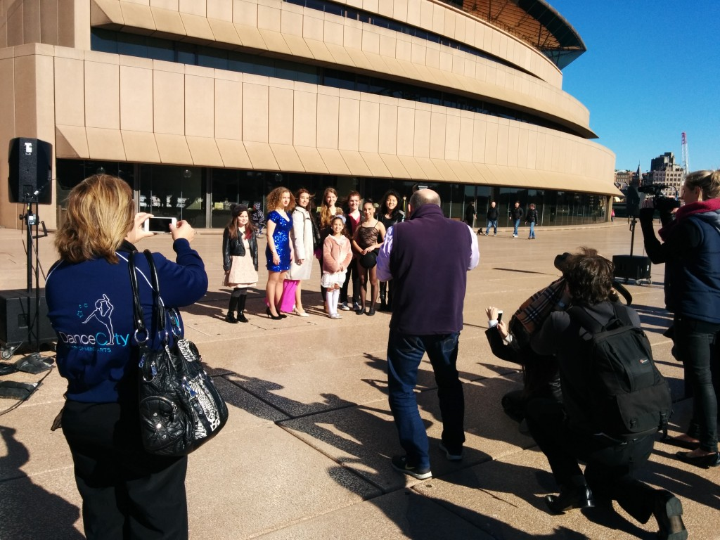 All of the Spotlight on Stars at the Sydney Opera House performers posing for some final official photos